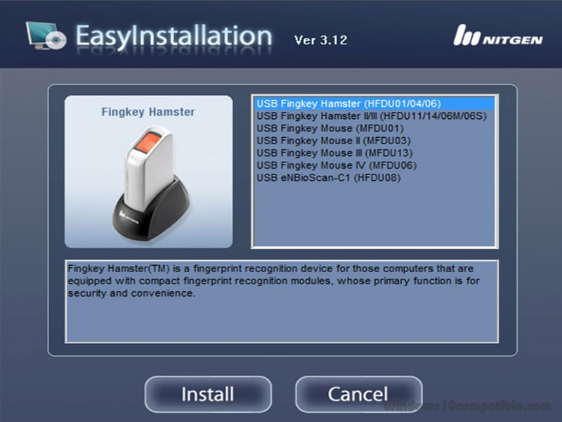 fingerprint scanner software free download for pc